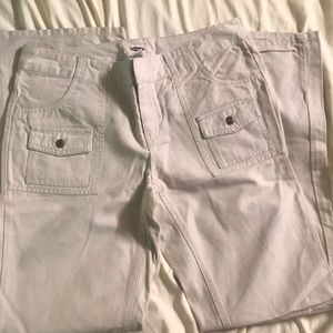 Old Navy Jeans Off White Bootleg Cut Jeans